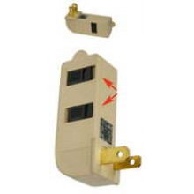 PT-7816A - UL 3 Outlet Childproof Wall Tap **