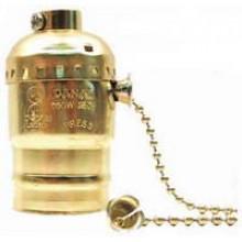 PT-7930G - UL Brass Light bulb Socket w/ Chain