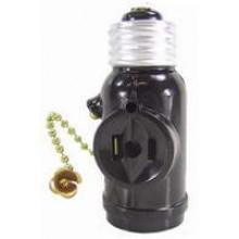 PT-7934-B - Brown Pull Chain Light bulb Socket