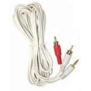 SN-IP1215-12 - 3.5mm to 2 RCA White 12'