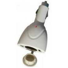 SN-IP3713W - White Power Socket Car Adapter
