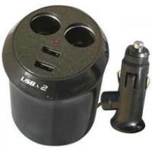 SN-IP3714 - Dual Power Socket Car Adapter