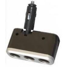SN-IP3715 - Triple Power Socket Car Adapter **