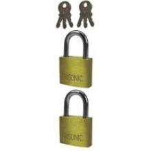 TS-F002 - Brass Luggage Locks-2 Pack