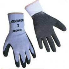 TS-GL3000 - Black Latex Poly Gloves