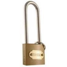 """TS-LKF6807L - 1 1/4"""" Brass Colored Hardened Steel Lock (Long Shaft)"""