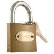"""TS-LKF6815 - 2"""" Brass Colored Hardened Steel Lock"""