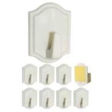 TS-P719 - 9 PC Plastic Wall Hooks ***