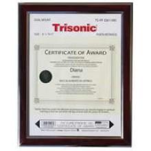 TS-PF-D811MS - 8.5x11 Diploma Frame - Mahogany/Silver