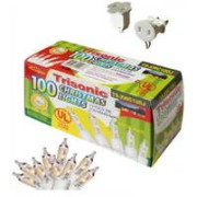 TS-XWC100J - 100 Clear Christmas Lights (White Wire)