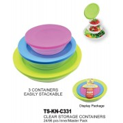TS-KN-C331 - 3 pc Clear Food Storage Container