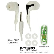 TS-YK152MP3 - MP3 White Earbuds