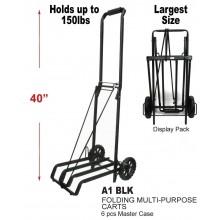 A1 BLK - Large Folding Multi-Purpose Cart