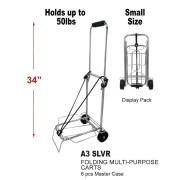 A3 SLVR - Small Folding Multi-Purpose Cart in Silver