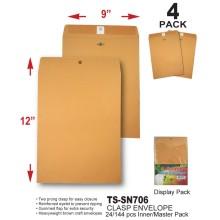 TS-SN705 - 9 x 12 Clasp Envelope
