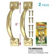 """5"""" Brass Door Handles - TS-HW694GG"""