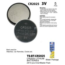 TS-BT-CR2025 - Lithium Batteries 5 Pack