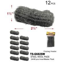TS-G682SW - Steel Wool Pads 12 Pack