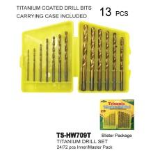 TS-HW709T - Titanium 13 Piece Drill Set