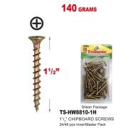 """TS-HW8810-1H - 1 1/2"""" Chipboard Screws 140 Grams"""