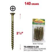 """TS-HW8810-2H - 2 1/2"""" Chipboard Screws 140 Grams"""