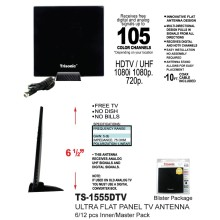 "TS-1555DTV - 6.5"" Ultra Flat Panel TV Antenna"
