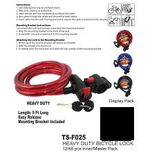 TS-F025 - Heavy Duty 5' Bicycle Lock