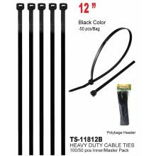 """TS-11812B - 12"""" Heavy Duty Cable Ties"""