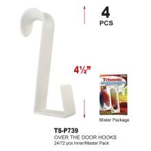 """TS-P739 - 4.5"""" Over the Door Hooks"""