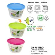 OH-FC17R01 - 1pc Large Round Food Container