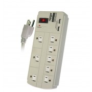 PT-9868U 8 Outlet Power Strip Surge Protected